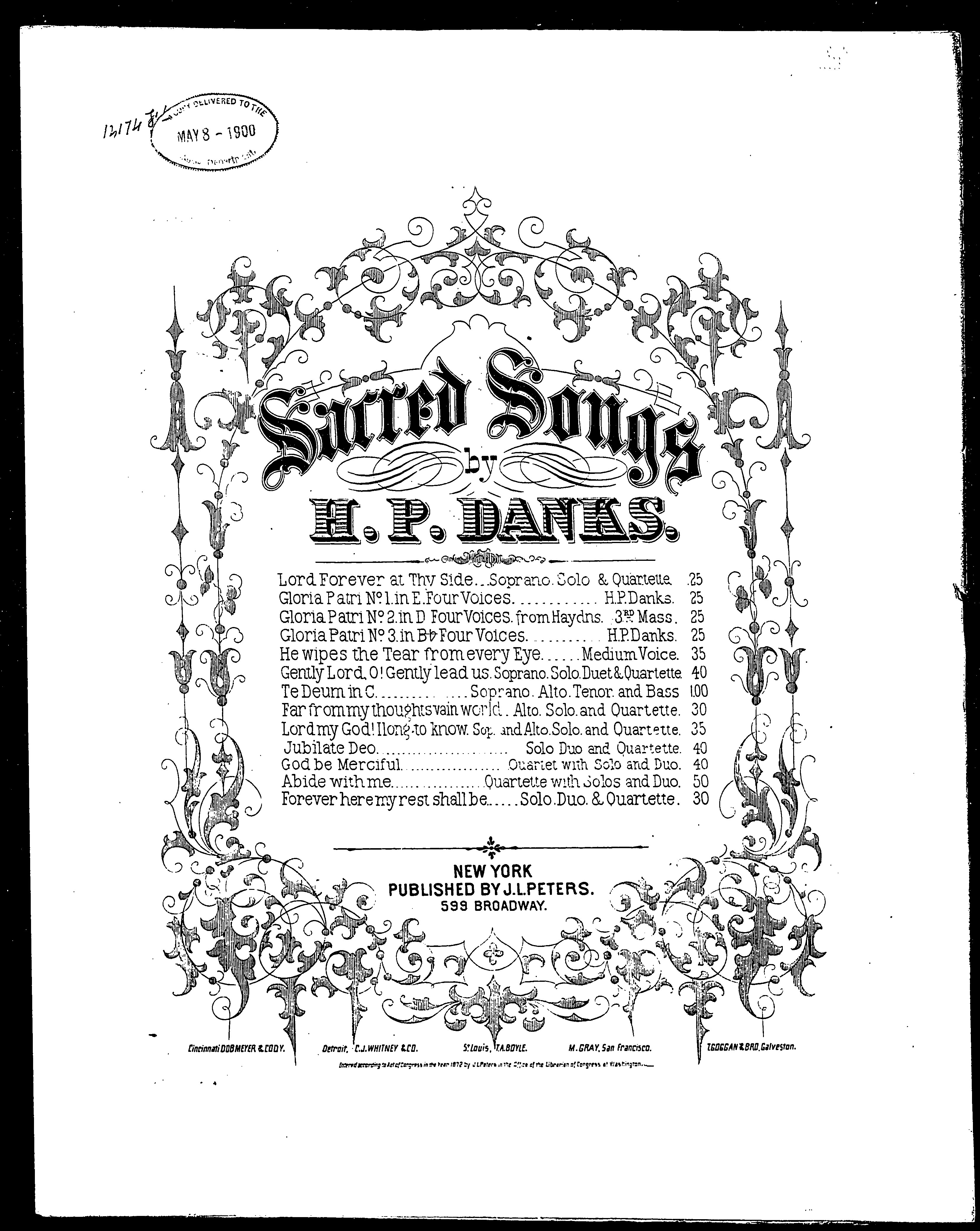 Forever here my rest shall be / [sheet music]:Print