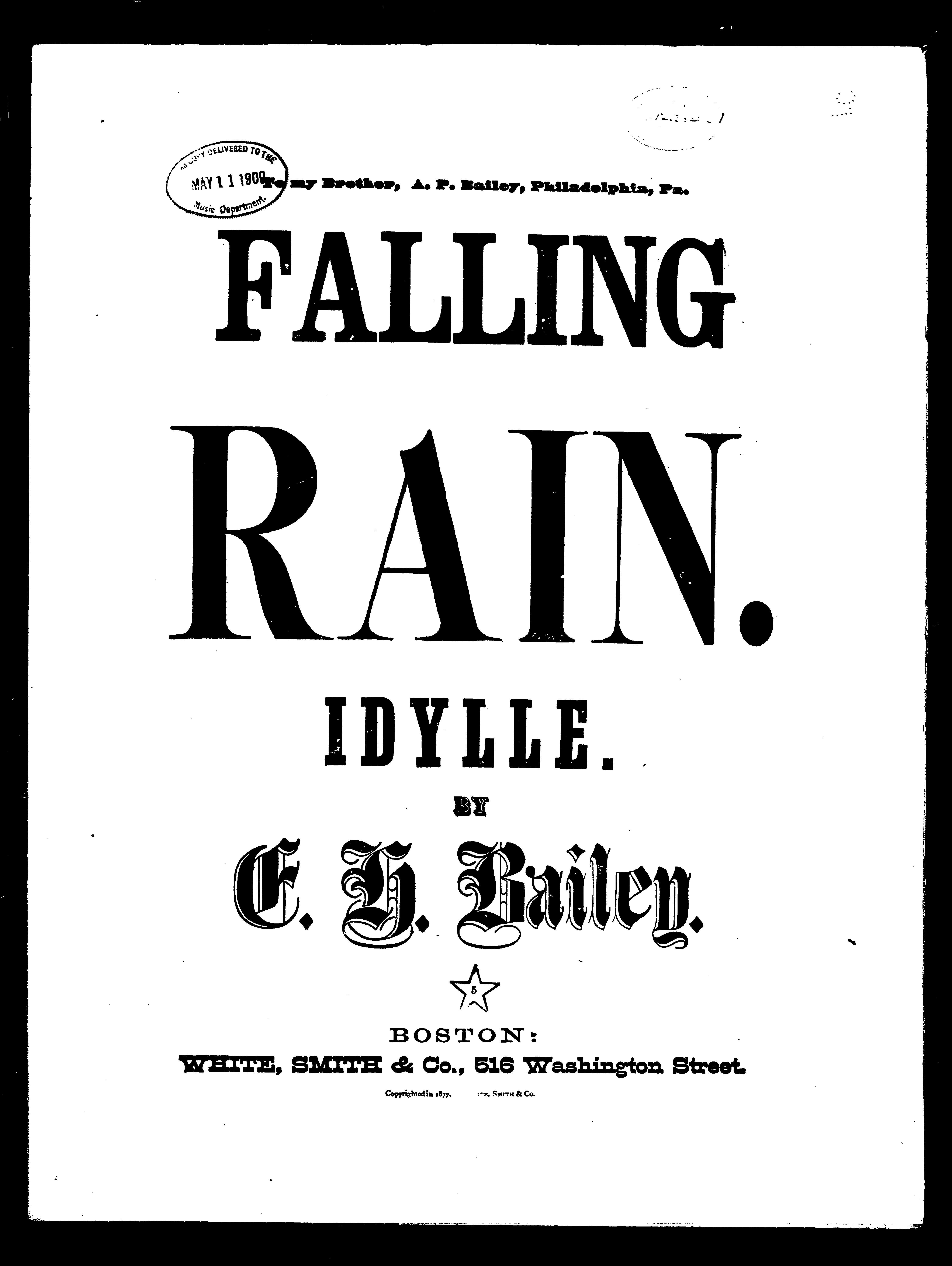Falling rain / [sheet music]:Print Material Description