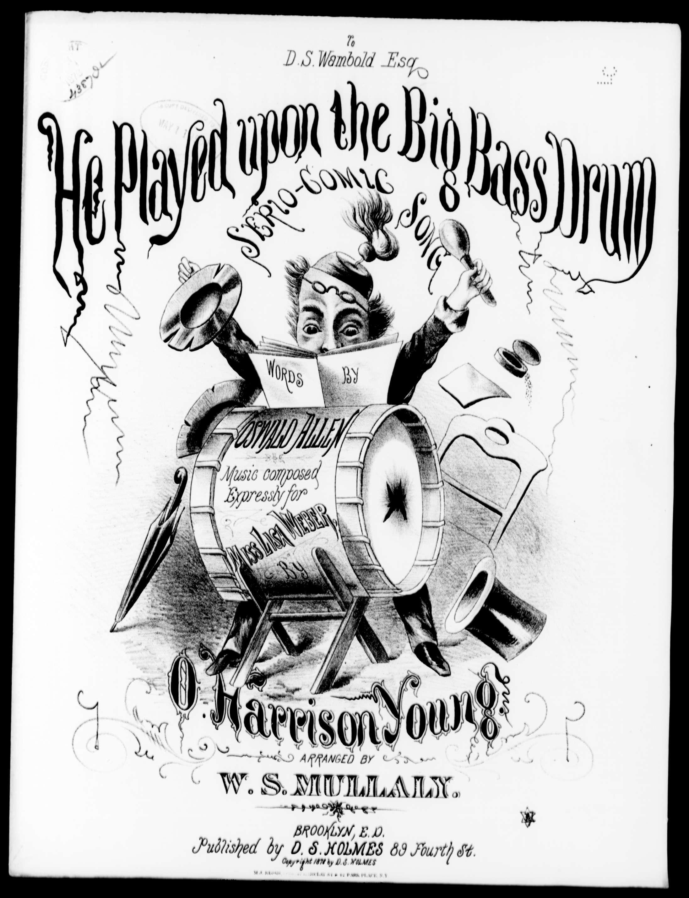 He Played Upon The Big Bass Drum Sheet Music Print