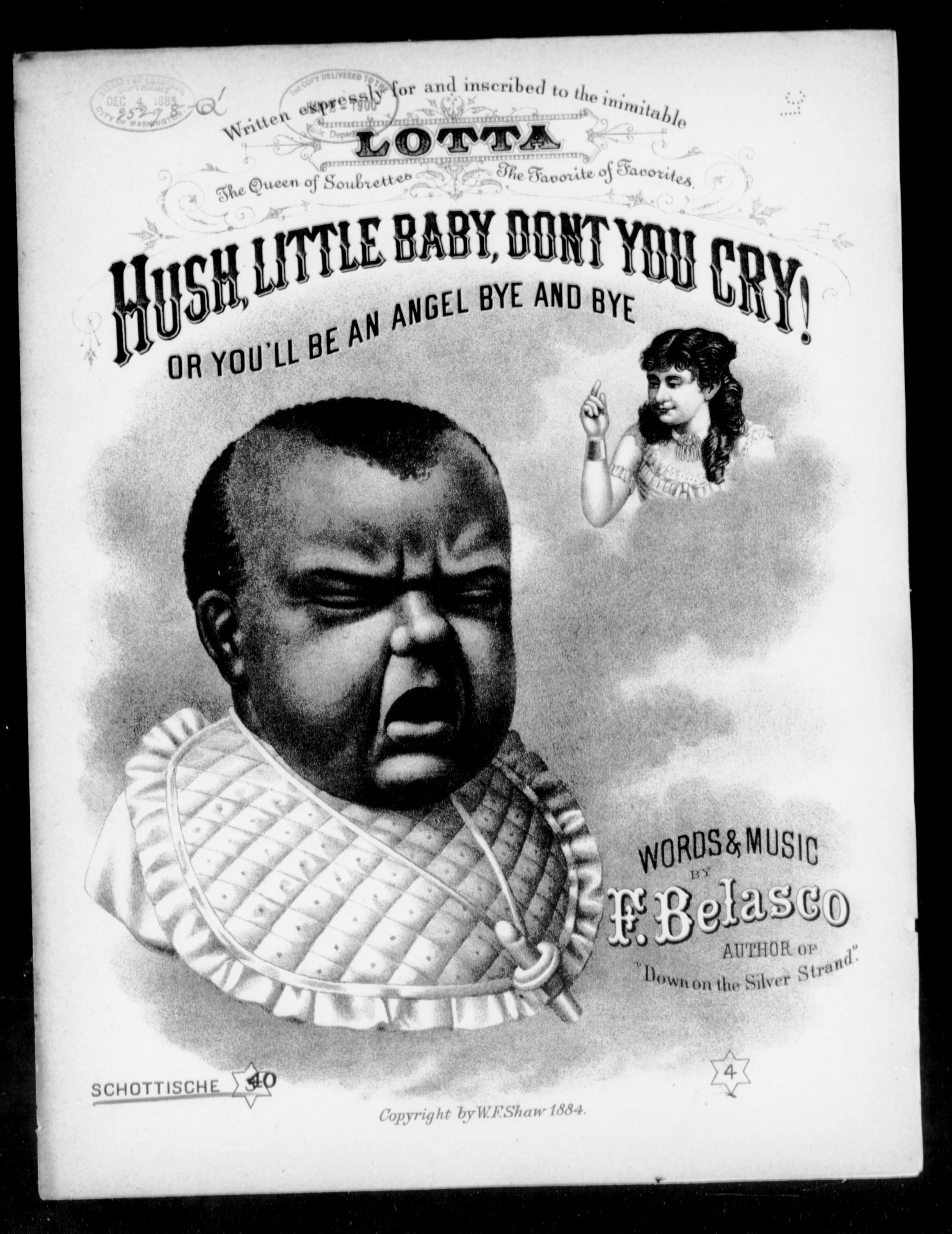 Hush Little Baby Don T You Cry Schottische Sheet Music Print Material Description