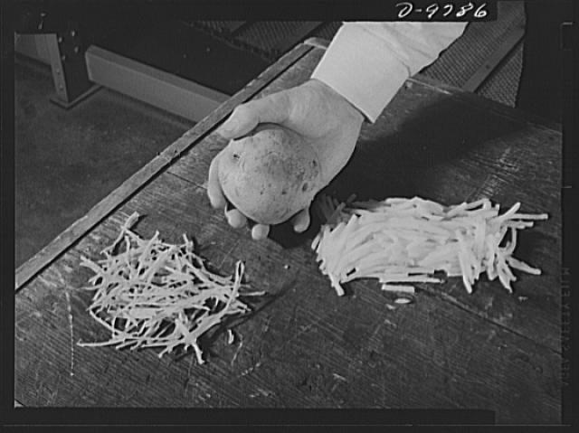 Dehydrated, Natural, and Sliced Potatoes, 1943