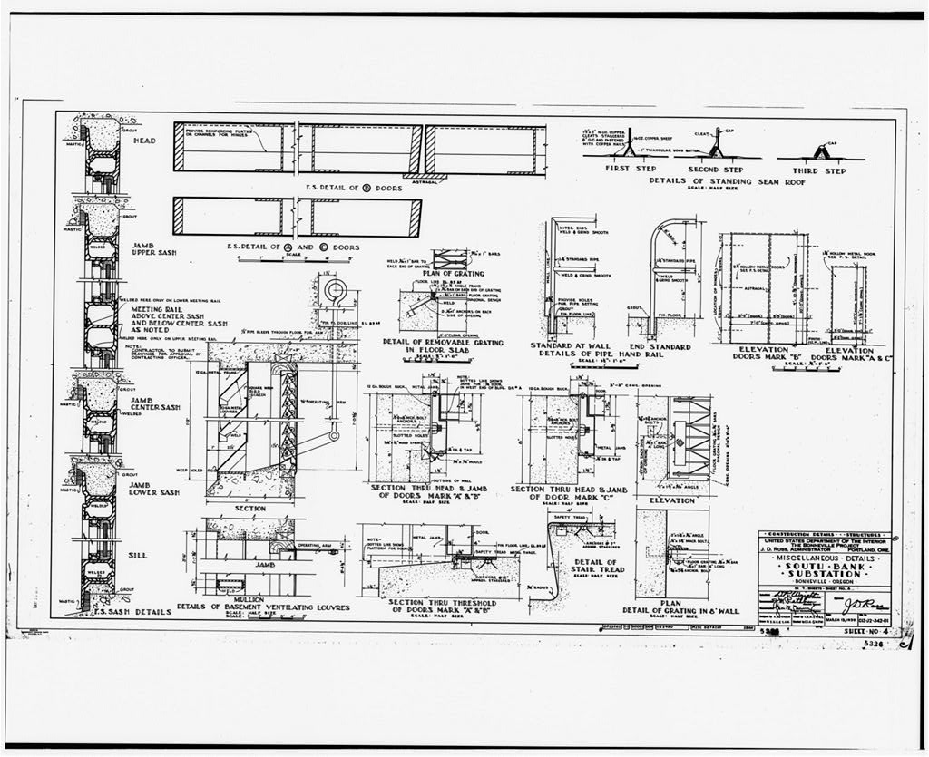 10 Photocopy Of Miscellaneous Details Drawing Showing