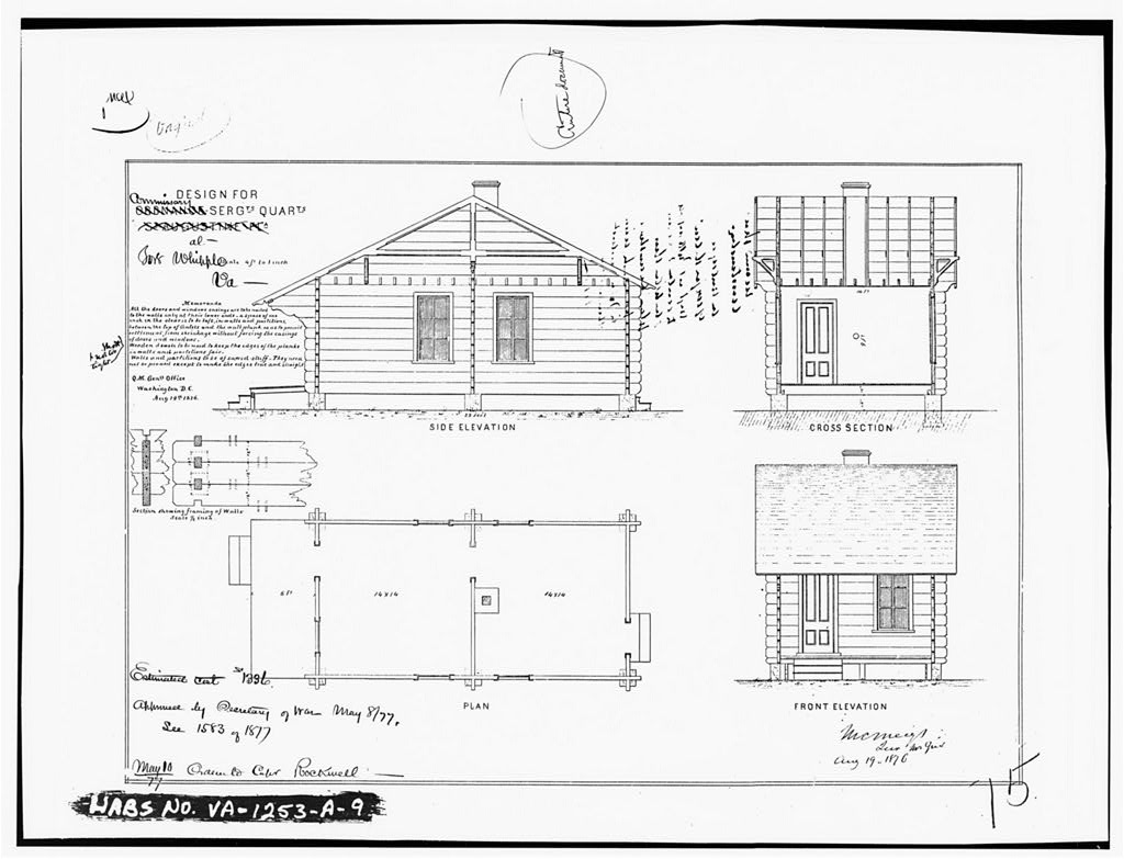 9. Photocopy of architectural drawing (from National