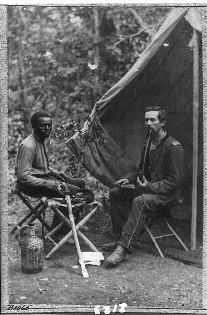 Photo Kongress Library LOC 1865 2 prajurit 1 berkulit