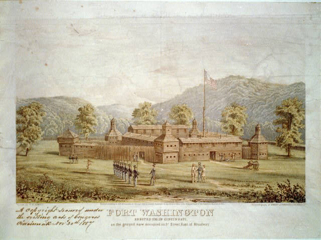 Fort Washington (Cincinnati), ca. 1790 (Library of Congress, image # LC-USZC4-403, public domain)