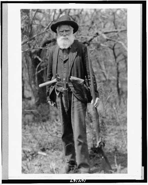 The First Homesteader, Daniel Freeman; in 1904