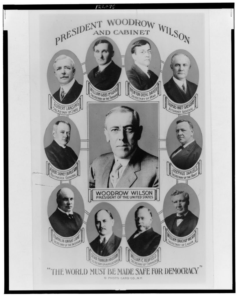 President Woodrow Wilson and cabinet