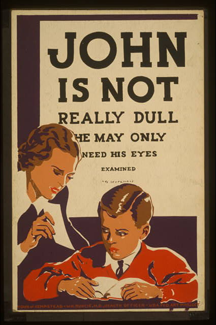 John is not really dull - he may only need his eyes examined