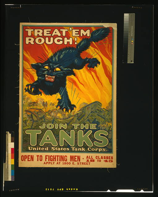 Treat 'em rough - Join the tanks United States Tank Corps /