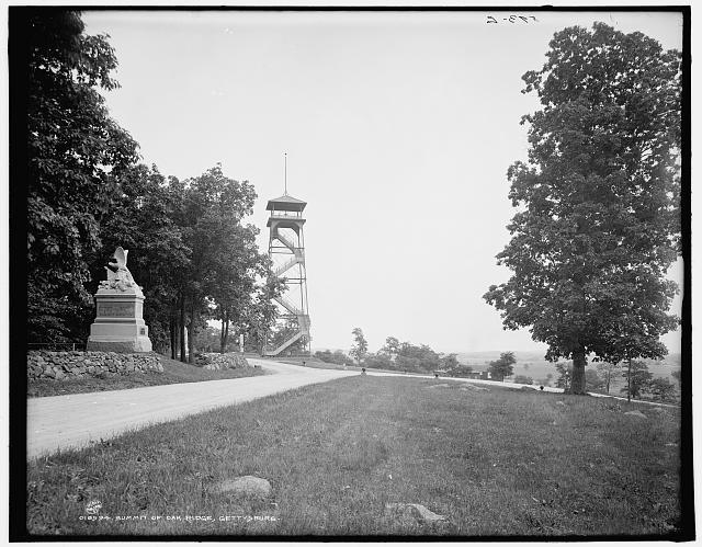Summit of Oak Ridge, Gettysburg