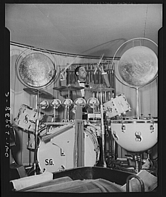 New York, New York. Sunny Greer, drummer for Duke Ellington