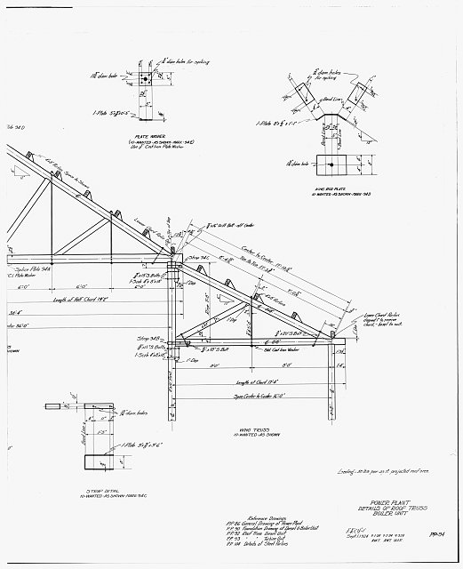 30. PHOTOCOPY OF DRAWING OF POWER PLANT, DETAILS OF ROOF