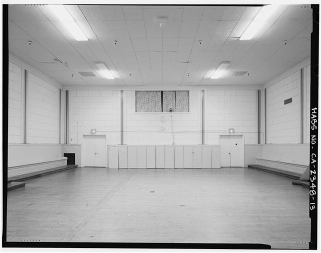 Interior view of Harriet Tubman Room, view facing north - Mission Turn Hall, 3543 Eighteenth Street, San Francisco, San Francisco County, CA