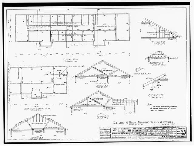 37. Ceiling & Roof Framing Plans & Details (drawing S3