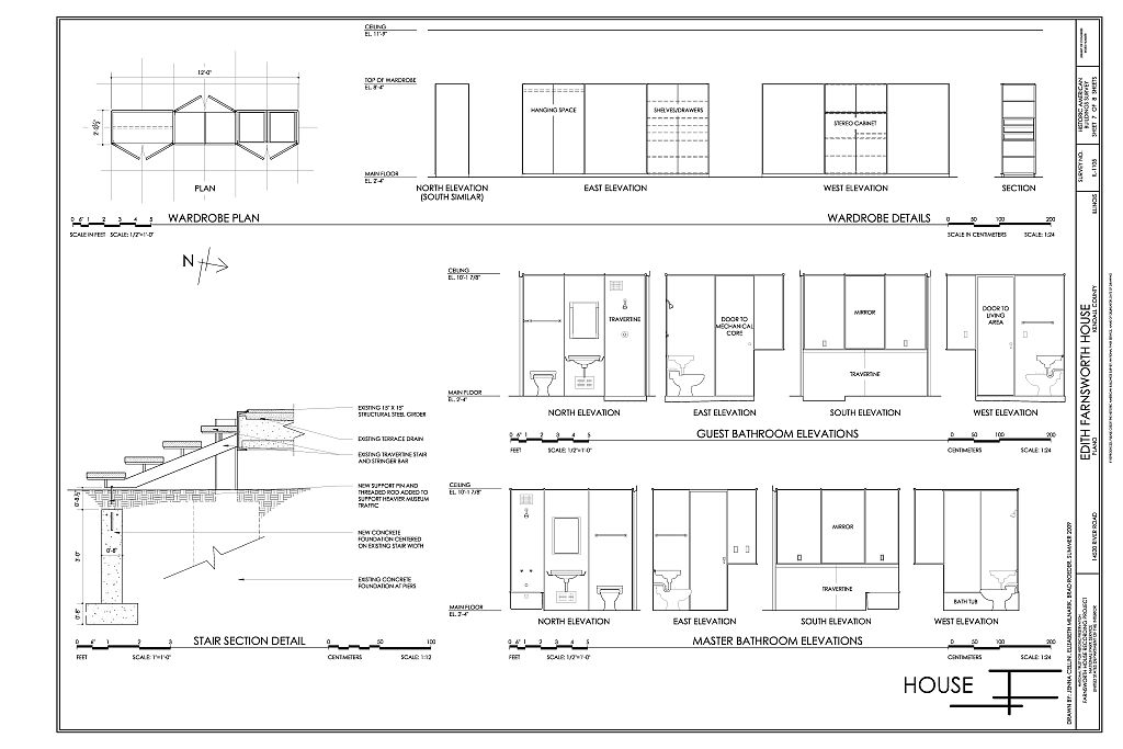 Bathroom Elevations Wardrobe Plans  Details and Stair