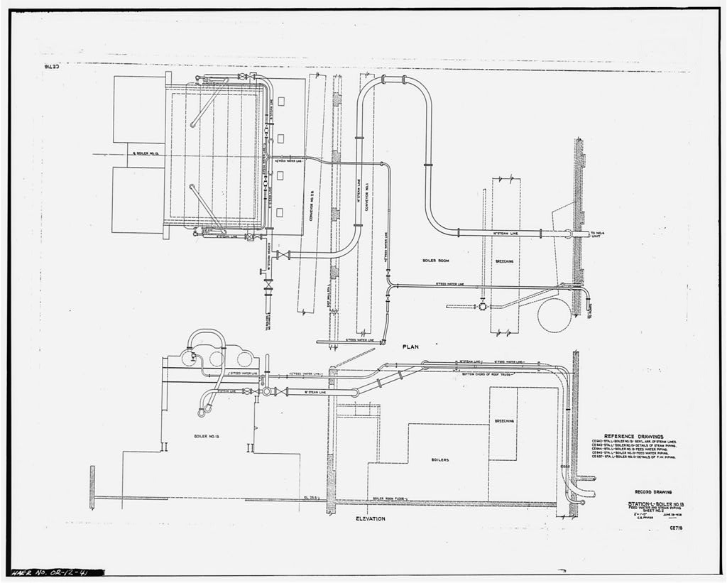 41. Photocopy of scale drawing (from Station 'L' office