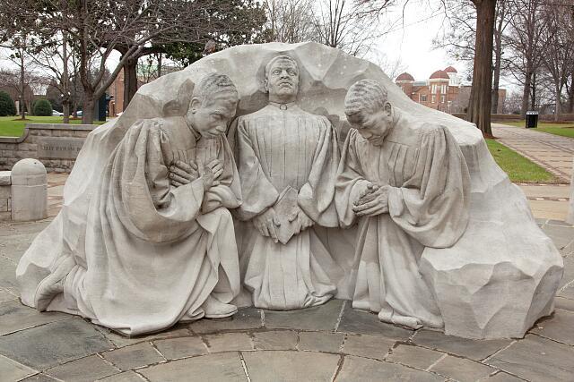 Statue of kneeling ministers, Kelly Ingram Park, Birmingham, Alabama