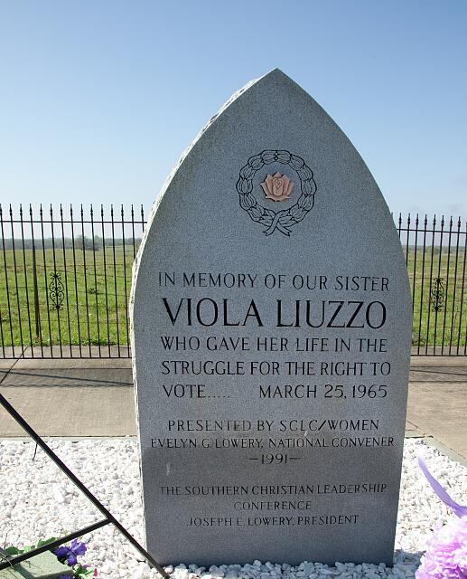 Memorial to Viola Fauver Gregg Liuzzo, Alabama
