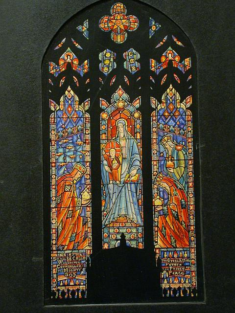 [Design drawing for stained glass window showing Epiphany in Hempstead, Long Island, New York]