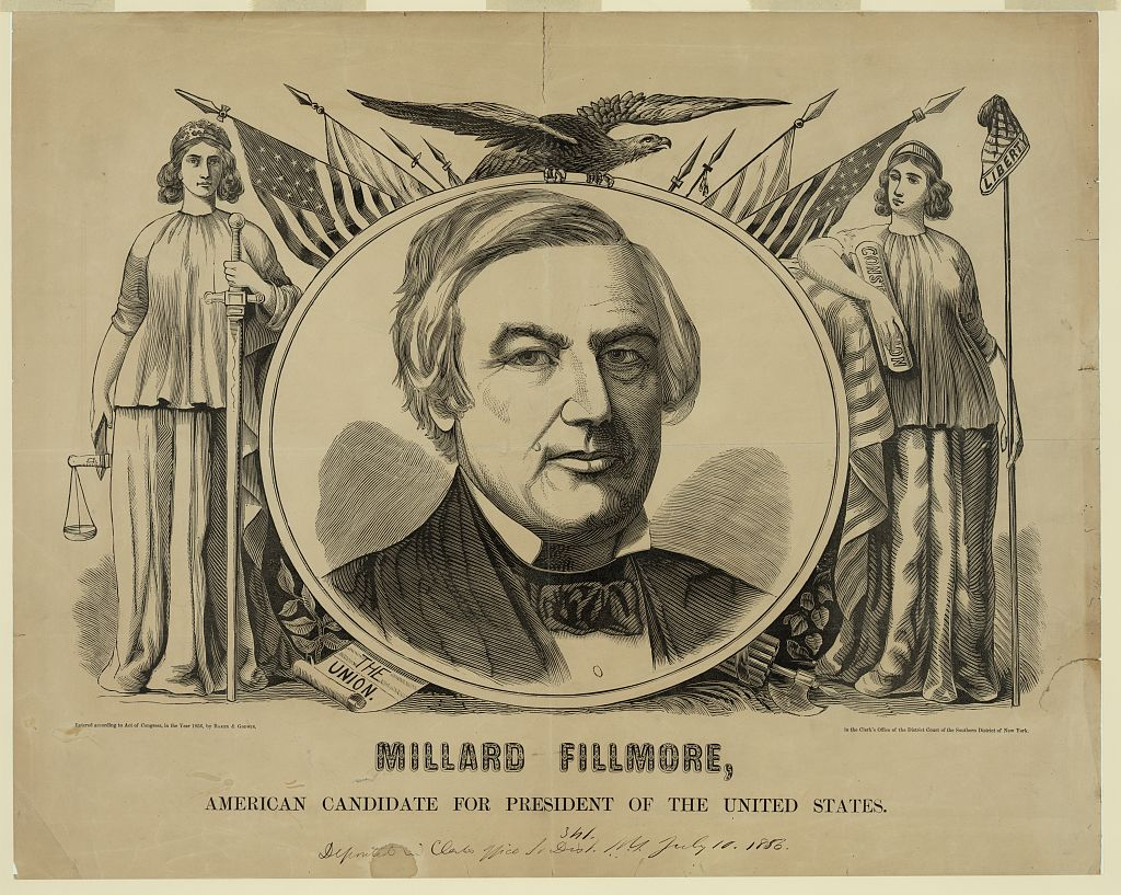 Millard Fillmore 1856 campaign poster - Library of Congress