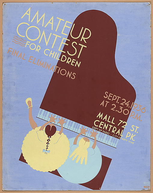 Amateur contest for children Final eliminations, Sept. 24, 1936.