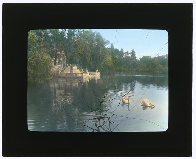 "[""Brookside,"" William Hall Walker house, Brookside Road, Great Barrington, Massachusetts. Boat landing]"