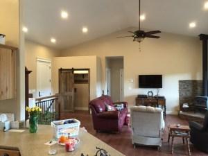 Custom features - vaulted ceiling and open floor plan
