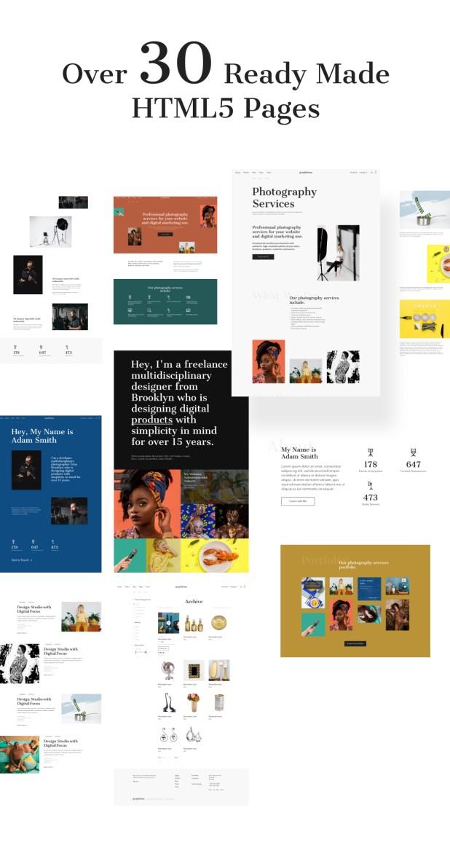 Graphitona - Photographer Multipage HTML Template