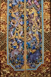 An ornate door in Ubud, Bali.