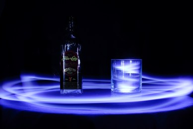 One of my very first attempts at light painting. I made the glass glow by placing the torch into it and moving it around quickly for a while