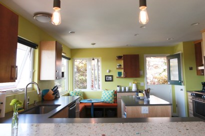A view into the kitchen shows off the dutch door.
