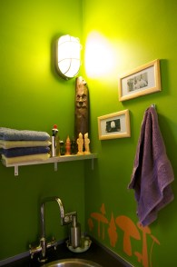 The gnome bathroom next to the master bedroom.