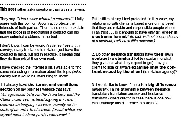 A Freelance Translator's Contract Write Negotiate And