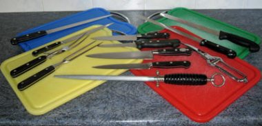 Chopping boards and knife set