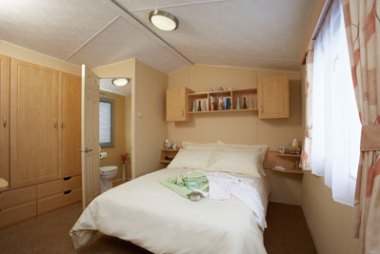 The main bedroom in the Willerby Rio