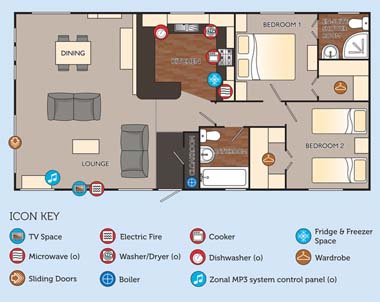 Willerby Clearwater holiday lodge - Floor Plan