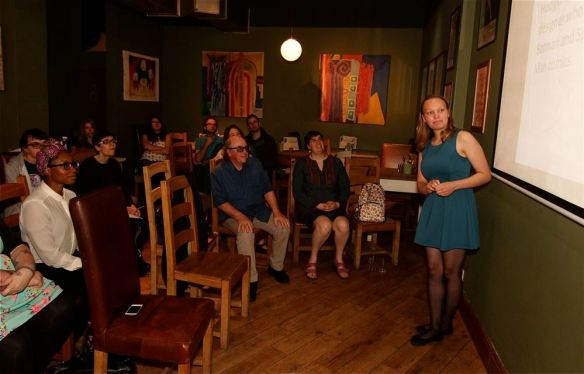 Laydeez Do Comics 3_8_2015_Alex Birch Talk, Hunt Emerson and Selina Locke Front Row,Laura Howell Back Row