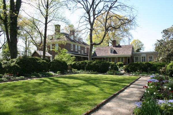 stenton colonial revival garden