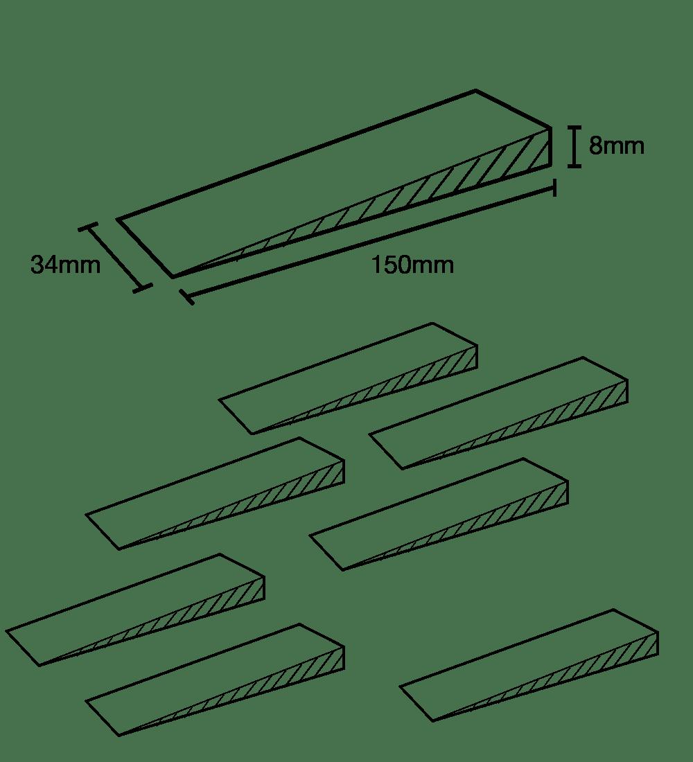 Image of multipurpose jambit wedge