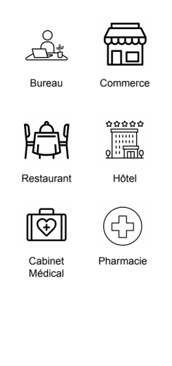 professionnel bureau commerce restaurant hotel cabinet medical phamarcie
