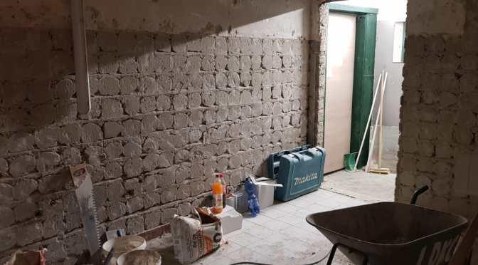 Sanierungsarbeiten in den Umkleideräumen
