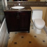 Granite Bathroom Top with Extension Covering the toilet