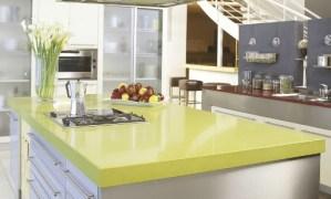 Green Quartz Kitchen countertops