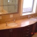 Travertine Vanity Top with Double Sink