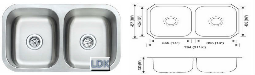 5050 Stainless steel sink