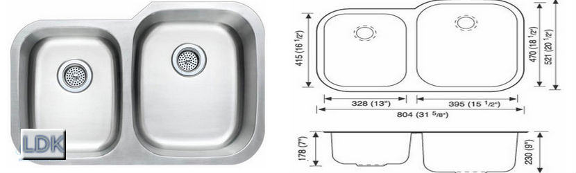 LDK 4060 Kitchen sink