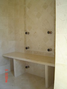 Shower seat Crema Marfil