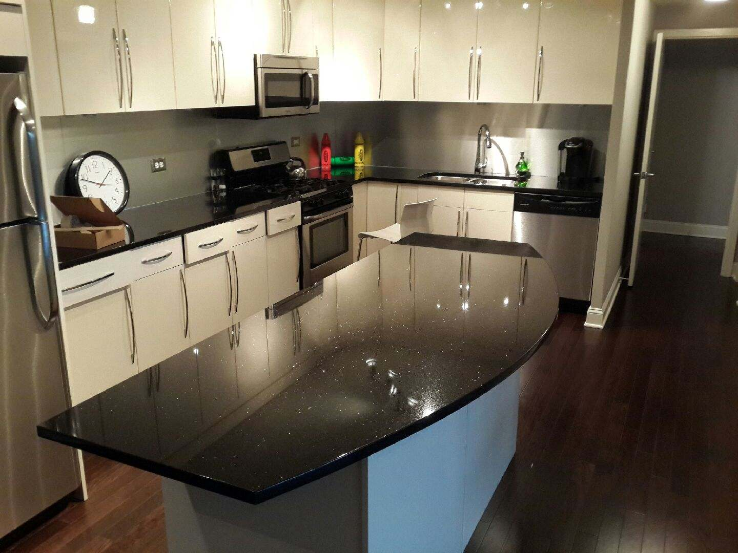 island granite omega white cabinets galaxy cityrock small ideas kitchen cost black galaxya leaksc countertops countertop backsplash faucet hubert dynasty cream