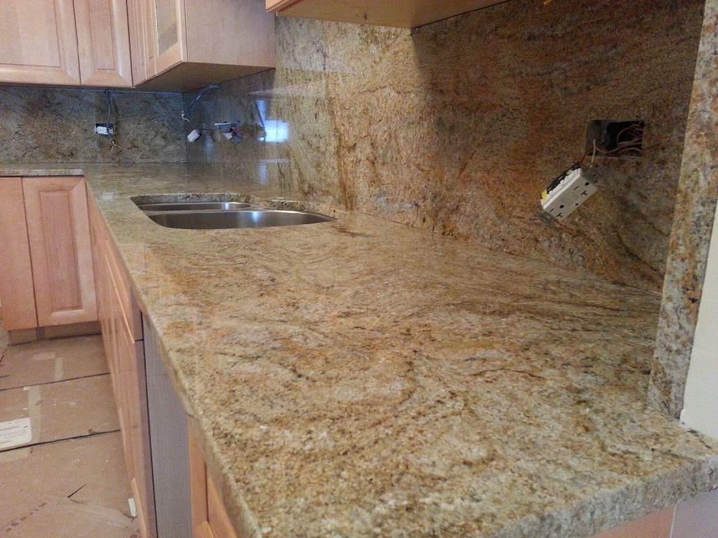 Juparana Vyara granite countertops Glenview IL - instalation