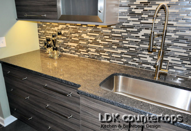 Silestone Countertop with full height tile BS